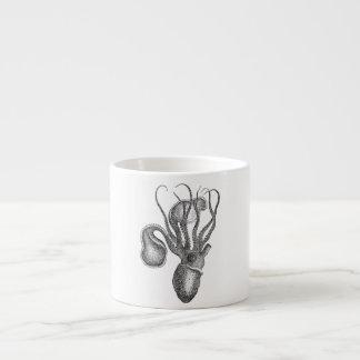 Vintage Agronaut Squid Octopus - Aquatic Template Espresso Mug