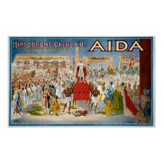 Vintage Aida Hippodrome Opera Company Poster