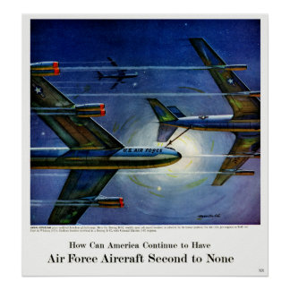 Vintage Air Force Plane Engines Advertisement Poster