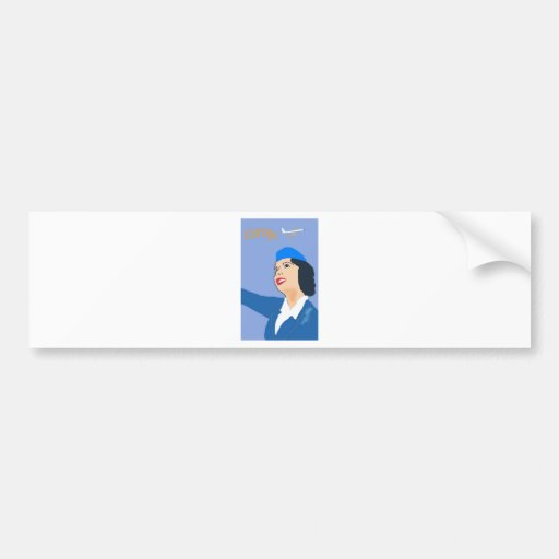 Vintage Air travel Bumper Sticker