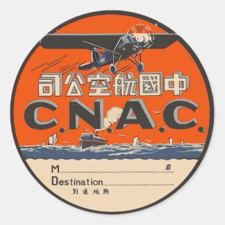 Vintage Air Travel Label