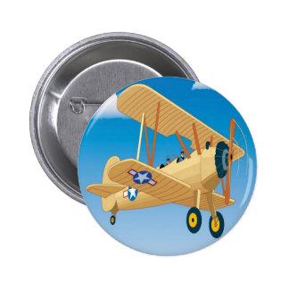Vintage aircraft design pin