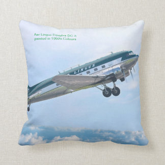 Vintage Aircraft for Polyester Throw Pillow