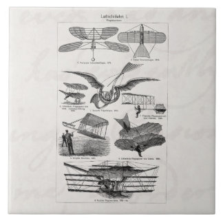 Vintage Aircrafts Airplanes Airships Retro Planes Tile
