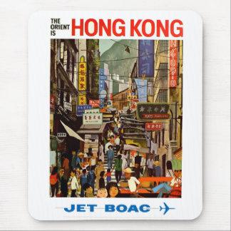 Vintage Airline Hong Kong China Travel Mouse Pad