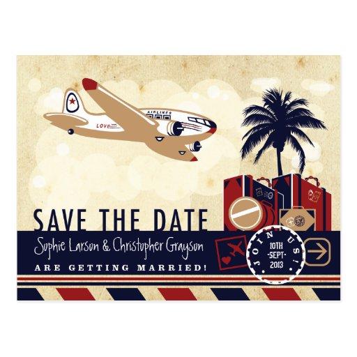 Vintage Airline Travel Postcard