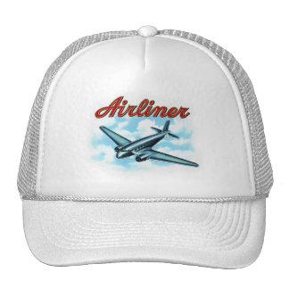 Vintage Airplane Airliner Cigar Label Trucker Hat