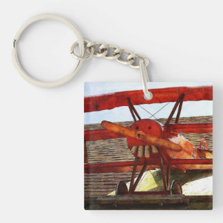 Vintage Airplane by Shirley Taylor Key Ring