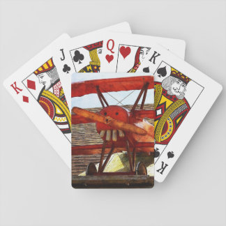Vintage Airplane by Shirley Taylor Playing Cards
