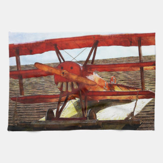 Vintage Airplane by Shirley Taylor Tea Towel