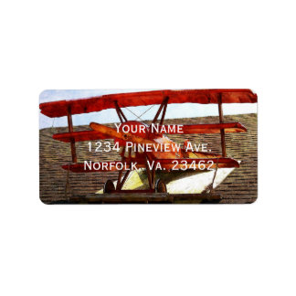Vintage Airplane Address Label