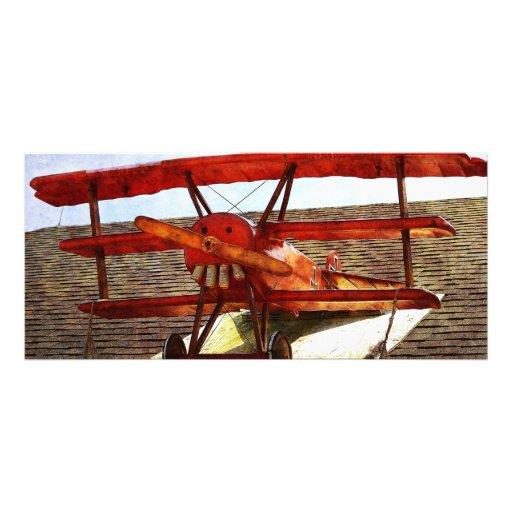 Vintage Airplane Personalized Rack Card