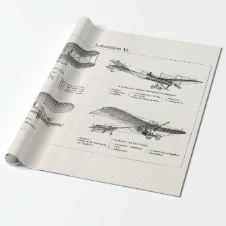 Vintage Airplane Retro Old Biplane Antique Planes Wrapping Paper