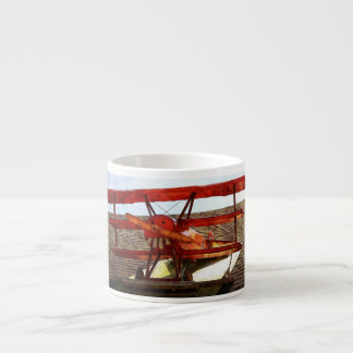 Vintage Airplane Espresso Cups