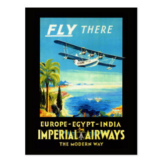 Vintage airplane - Travel gifts and greetings Postcards