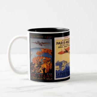 Vintage Airplane - Travel gifts and greetings Two-Tone Mug