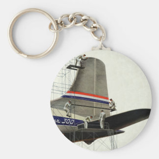 Vintage Airport Airlines Airplane Maintenance Keychains