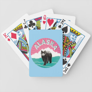 Vintage Alaska bear America Bicycle Playing Cards