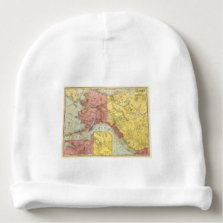 Vintage Alaska Map All Alaskan Custom Text Baby Beanie