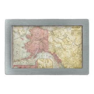Vintage Alaska Map Belt Buckles