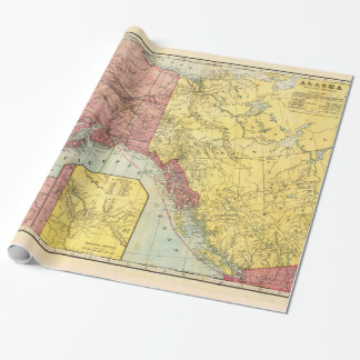 Vintage Alaska Map Wrapping Paper