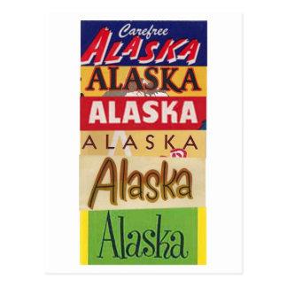 Vintage Alaska Travel Poster Postcard