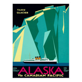 Vintage Alaskan Travel Postcard