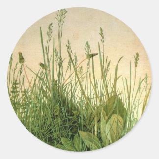 Vintage Albrecht Durer Wild Grass Round Sticker