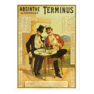 Vintage Alcohol Ads Prints Postcard
