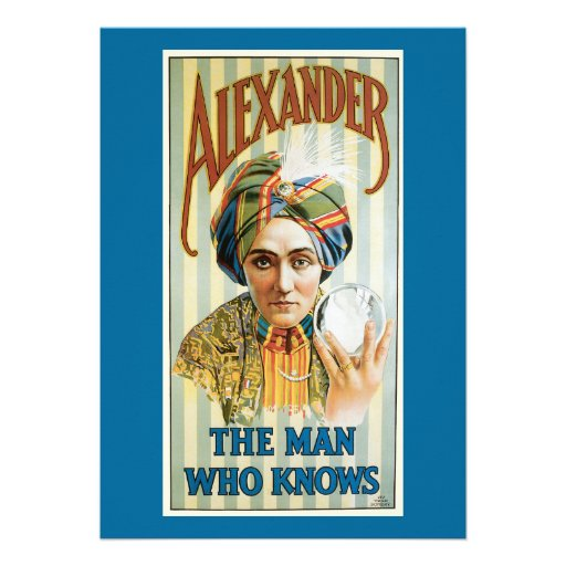 Vintage Alexander Magician Poster 1915 Custom Invite