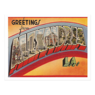 Vintage Alexandria Louisiana Postcard