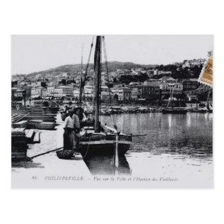 Vintage Algeria Philippeville Fishing boat, 1912 Postcard