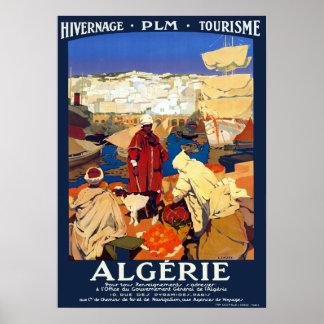 Vintage Algeria Travel Poster