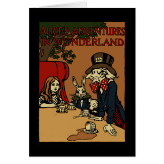 Vintage Alice Cover Mad Tea Party Card