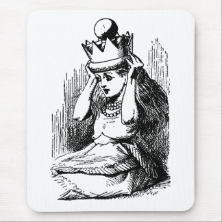 Vintage Alice in Wonderland; Alice as the Queen Mousepads
