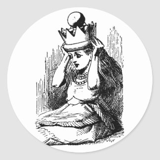 Vintage Alice in Wonderland; Alice as the Queen Sticker