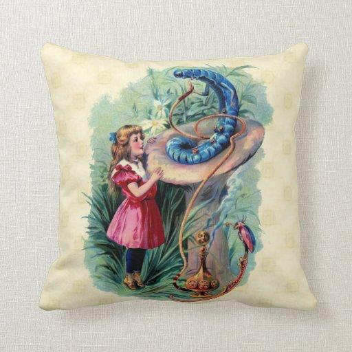 Vintage Alice In Wonderland American MoJo Pillow