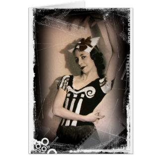 Vintage Alice in Wonderland Ballet Greeting Card
