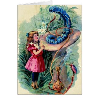 Vintage Alice In Wonderland Card