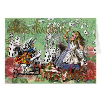 Vintage Alice in Wonderland Cards Tea party