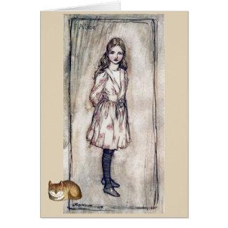 Vintage Alice in Wonderland Cheshire Cat Art Card