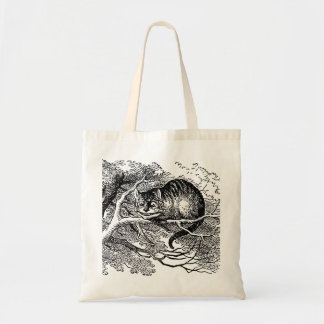 Vintage Alice in Wonderland, Cheshire Cat Budget Tote Bag