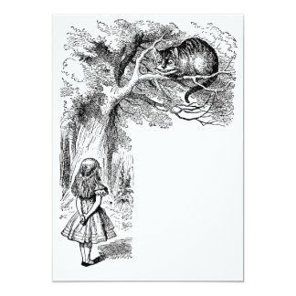 Vintage Alice in Wonderland, Cheshire Cat Invites