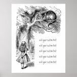 Vintage Alice in Wonderland, Cheshire Cat Print