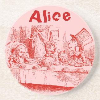 Vintage Alice in Wonderland Beverage Coaster