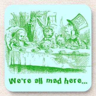Vintage Alice in Wonderland Beverage Coasters