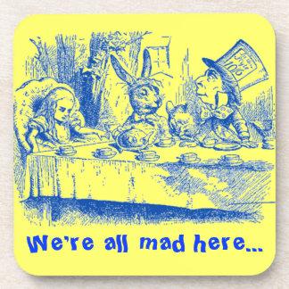 Vintage Alice in Wonderland Coasters