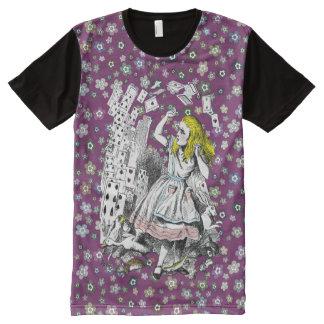 Vintage Alice in Wonderland Deck of Cards Tee All-Over Print T-Shirt