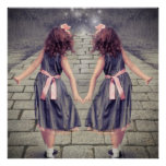 vintage alice in wonderland girls fairy garden poster