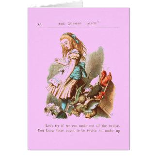 Vintage Alice in Wonderland Greeting Card